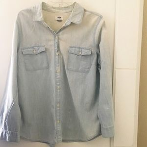 Old Navy | Denim Button Up Acid Wash Chambray